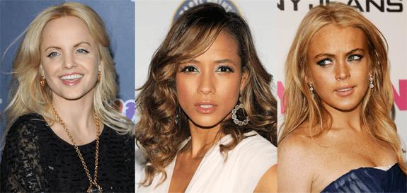 Mena Suvari, Dania Ramirez, Lindsay Lohan