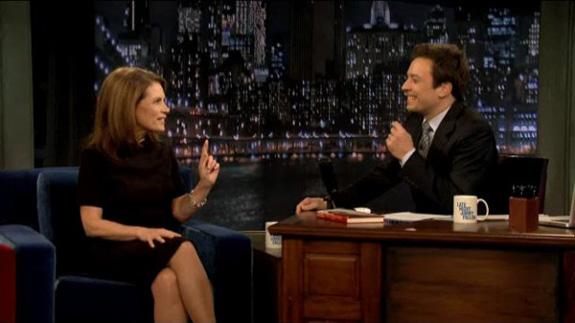 Michele Bachmann and Jimmy Fallon