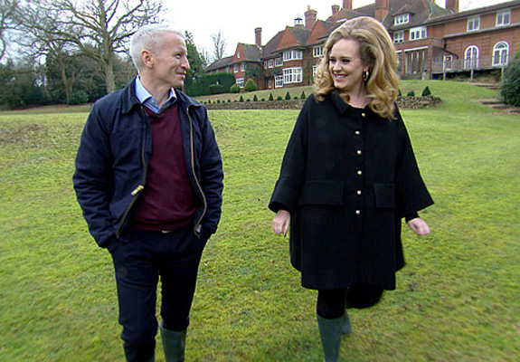 Adele and Anderson Cooper