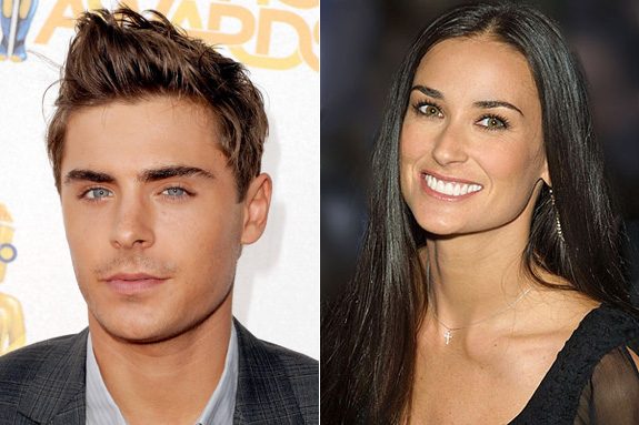 Demi Moore and Zac Efron