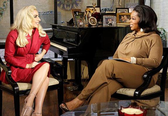 Lady Gaga and Oprah Winfrey