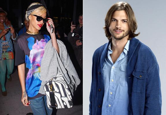 Rihanna and Ashton Kutcher