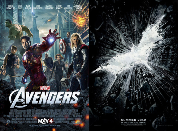 The Avengers and The Dark Knight RIses