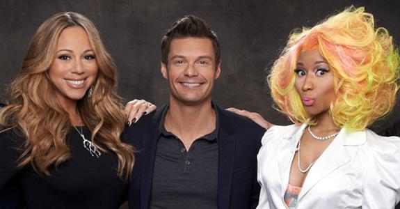 Mariah Carey, Ryan Seacrest and Nicki Minaj