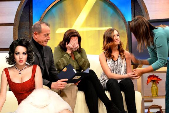 Lindsay Lohan, Michael Lohan and Ashley Horn
