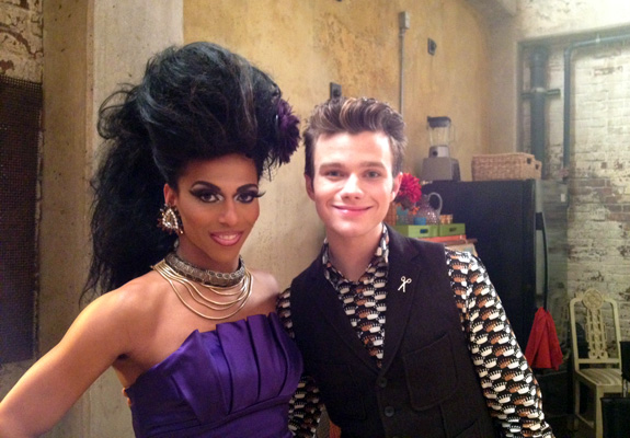 Shangela and Chris Colfer