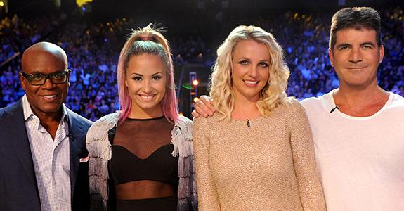 Britney Spears, LA Reid, Demi Lovato, Simon Cowell