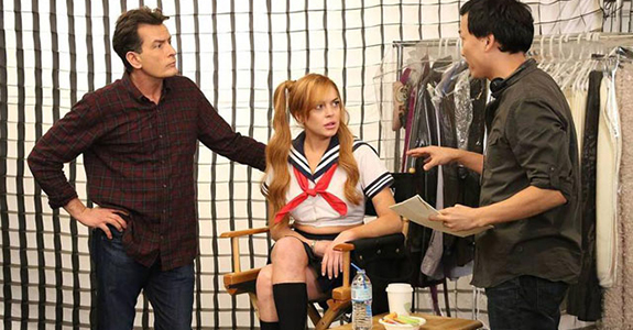 Lindsay Lohan and Charlie Sheen