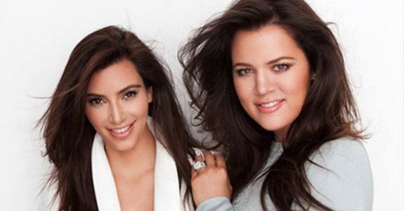 Kim Kardashian and Khloé Kardashian