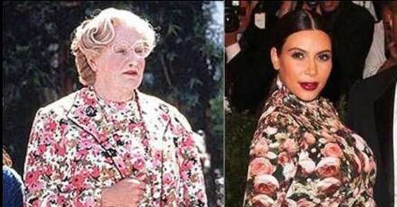 Robin Williams and Kim Kardashian