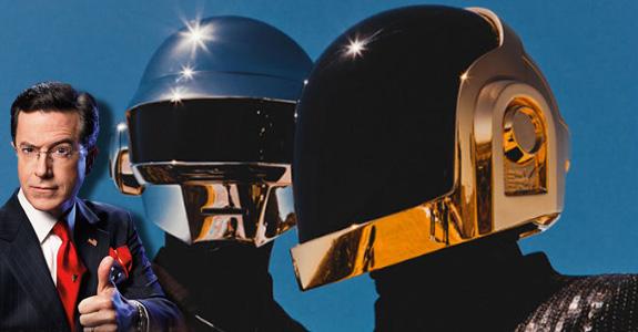 Daft Punk and Stephen Colbert