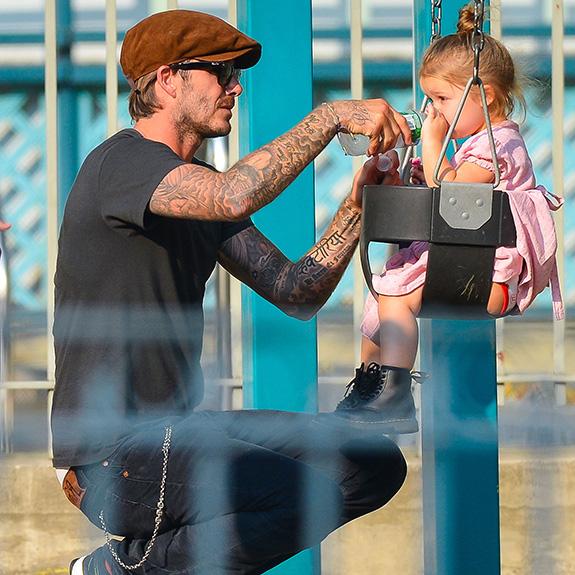 David Beckham and Seven Harper