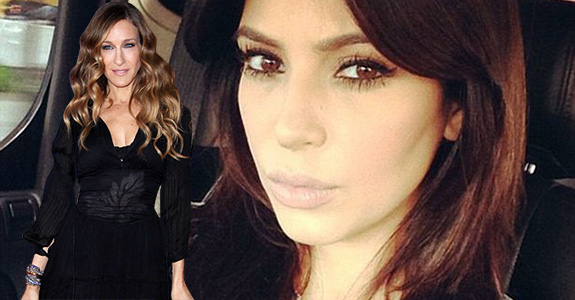 Sarah Jessica Parker and Kim Kardashian