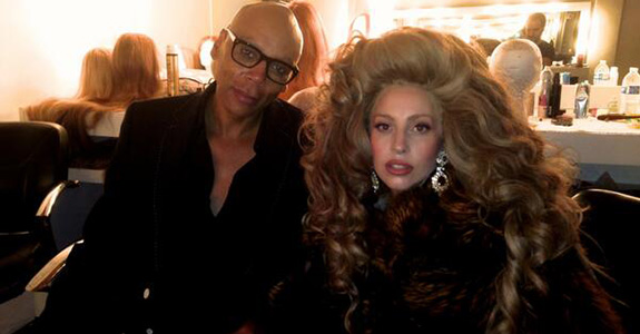 RuPaul and Lady Gaga