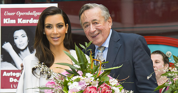 Kim Kardashian and Richard Lugner