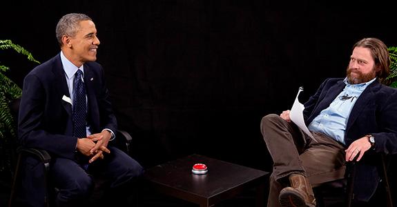 Barack Obama and Zach Galifianakis
