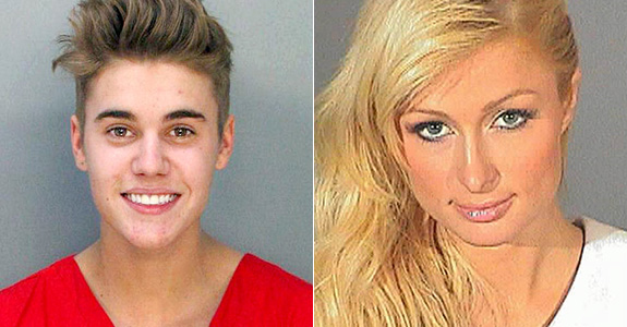 Justin Bieber and Paris Hilton