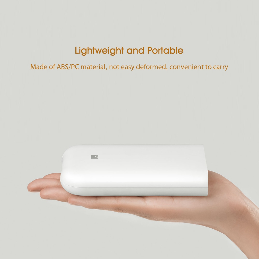 Xiaomi Mijia MI Portable Mini Pocket Photo Printer Kit Bluetooth Printer Bluetooth Wireless Bt Thermal Printer for Mobile Phone