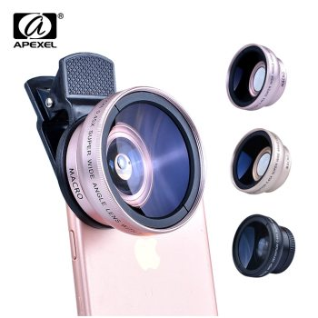 2in1 Lens 0.45X Wide Angle+12.5X Macro Lens Professional HD Phone Camera Lens For iPhone 8 7 6S Plus Xiaomi Samsung LG