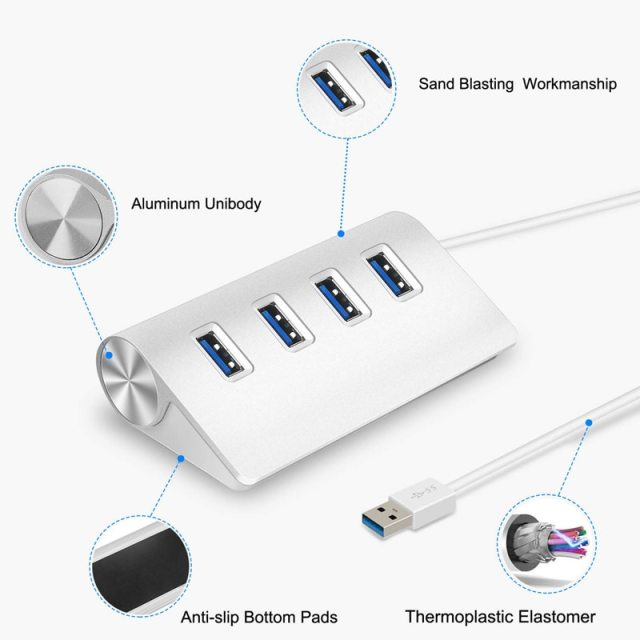 USB HUB 3.0 multi 4 7 port with power adapter for xiaomi macbook pro air computer PC laptop accessories adaptador USB 3