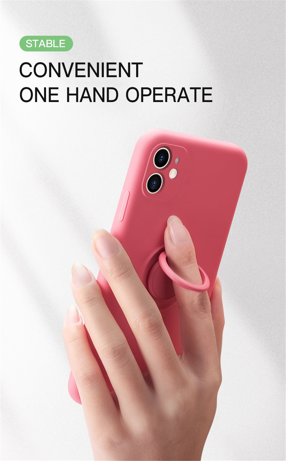 Original Silicone Magnetic Ring Holder Case For iPhone 11 Pro XS max XR XS X 8 7 6s 6 Plus Soft Car Stand Finger Bracket Cover