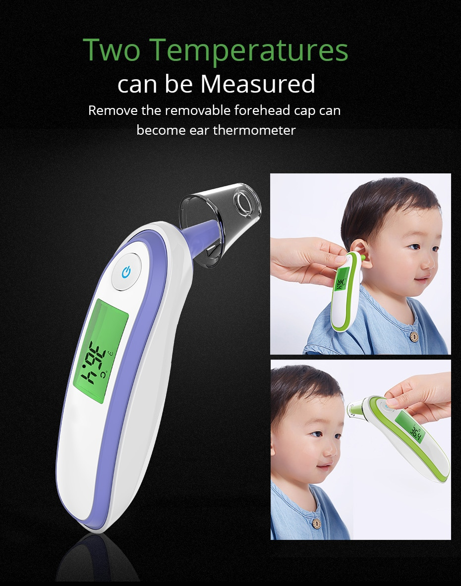 BOXYM Medical Household Infrared Fever Thermometer Digital Baby Adult Non-contact Laser Body Temperature Ear Thermometer