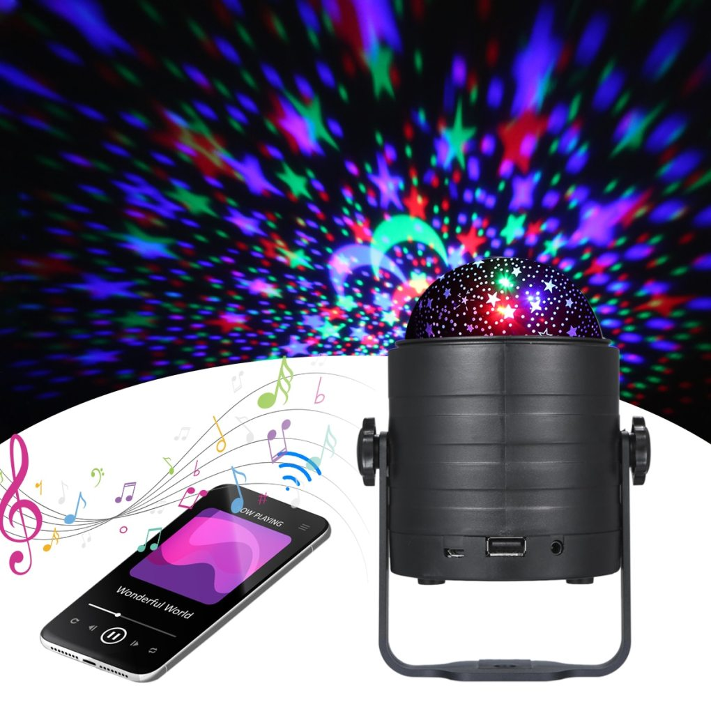 Romantic Colorful Starry Sky Ocean Projector Night Light Remote Control Ocean Wave Projection Lamp with BT Music Speaker