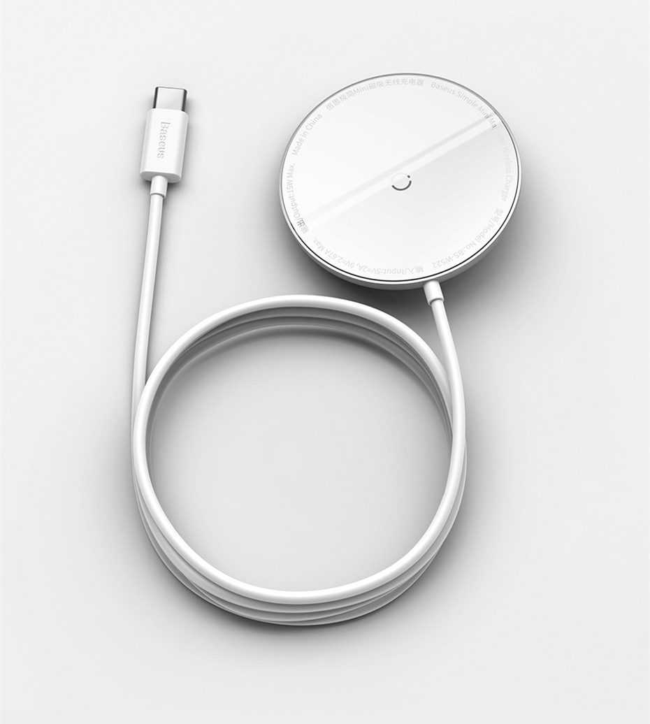 Baseus Magnetic Wireless Charger For iPhone 12 Pro Max Charger With Cable Magnet Fast Charger For iPhone Wireless Charging Pad