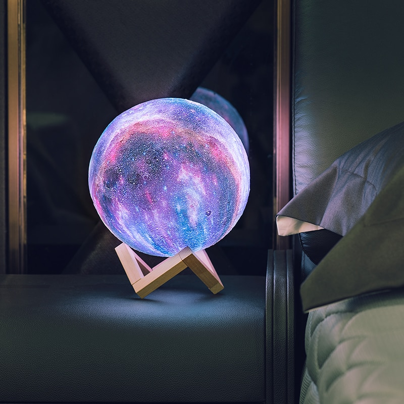 16 Colors 3D Printing Moon Lamp Galaxy Moon Light Change Touch and Remote Control USB Charger as Christmas gifts