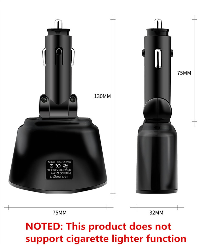 3.1A Car Charger Dual USB Chargers For iPhone Huawei Samsung Car Cigarette Lighter Socket Splitter Plug Accessory Fast Charging