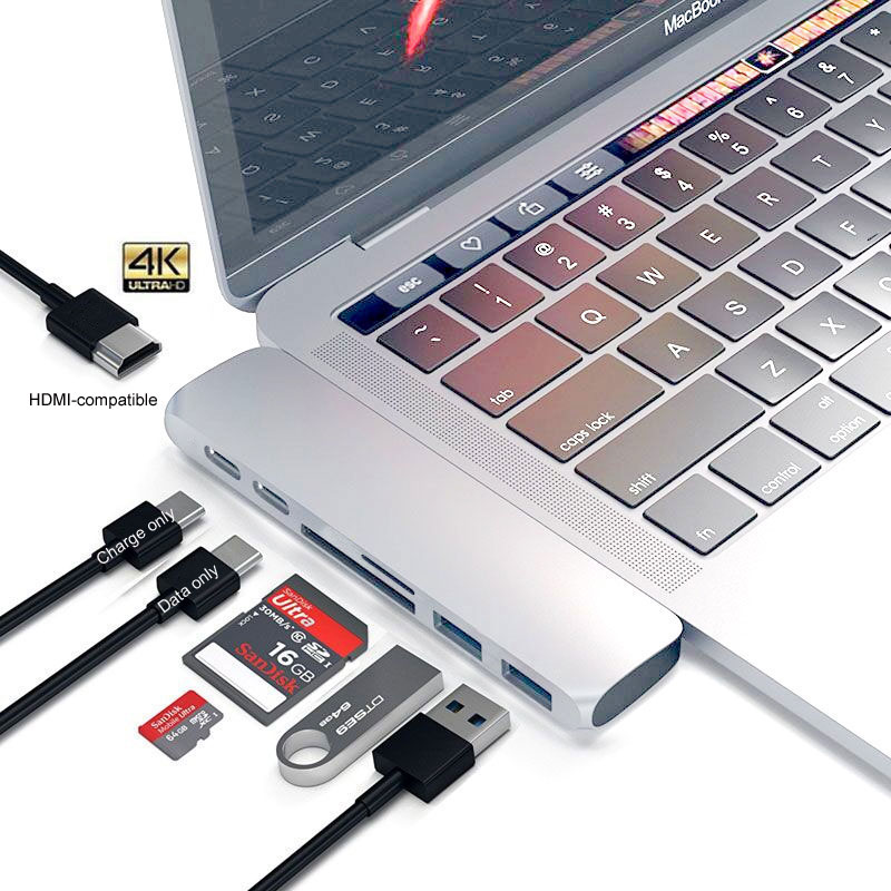 Mosible USB C Hub Thunderbolt 3 Dock with HDMI-compatible Rj45 1000M Adapter TF SD Reader PD 3.0 for MacBook Pro/Air M1 Type-c