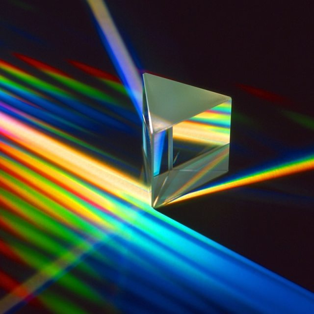 Multiple Sizes Triangular Prism K9 Optical Prisms Glass Physics Teaching Refracted Light Spectrum Rainbow Students Supplies
