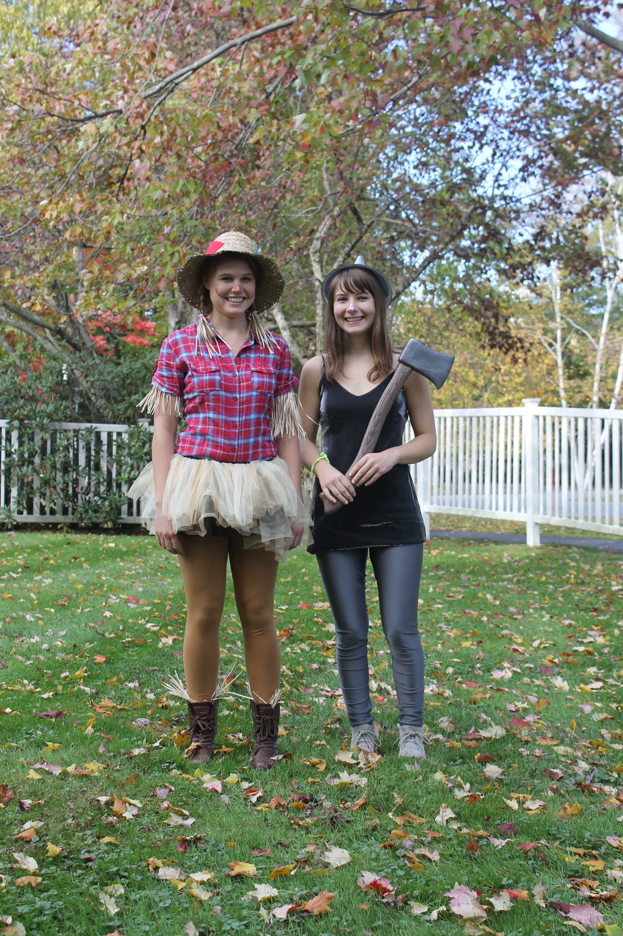 scarecrow and tin man halloween costume ideas - we're going to make it