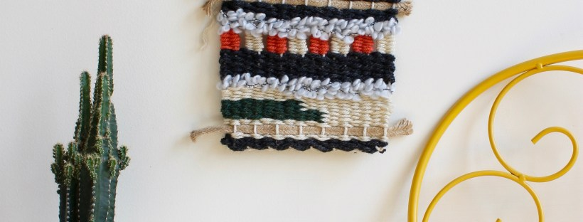 Handmade wall weaving decor