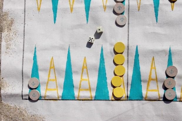 DIY Nautical Themed Backgammon Board | Popcorn & Chocolate