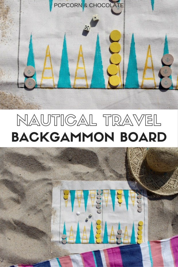 Nautical Travel Backgammon Board | Popcorn & Chocolate