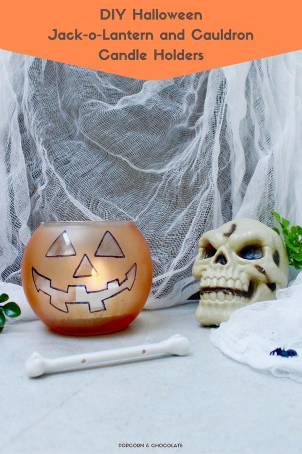 DIY Halloween Candle Holders | Popcorn & Chocolate