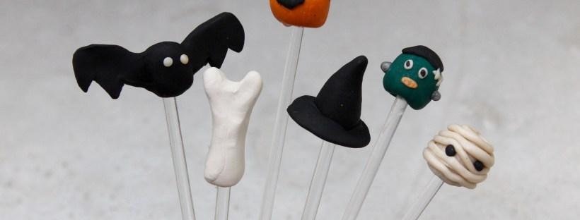 Halloween Sculpey Drink Stirrers | Popcorn & Chocolate