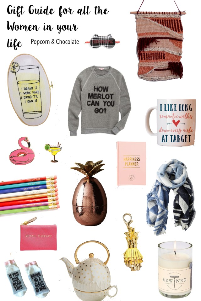 2016 gift guide for women | Popcorn & Chocolate