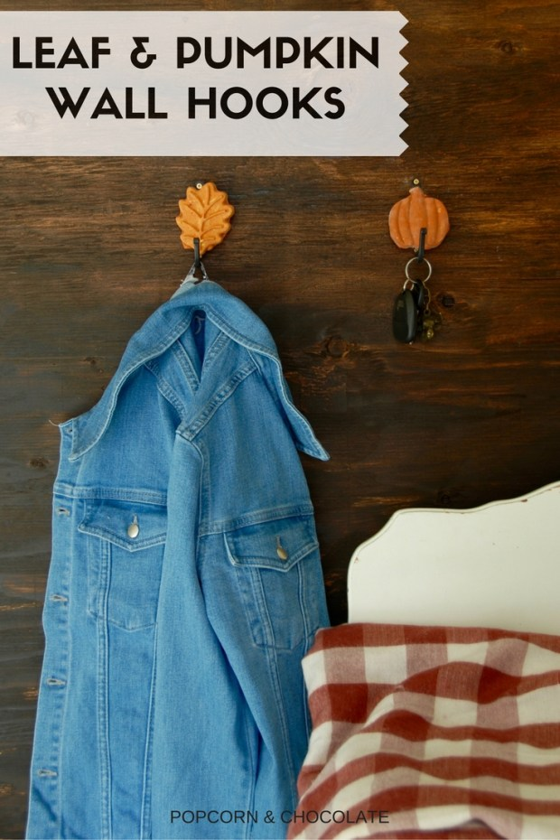 Leaf and pumpkin wall hooks | Popcorn & Chocolate