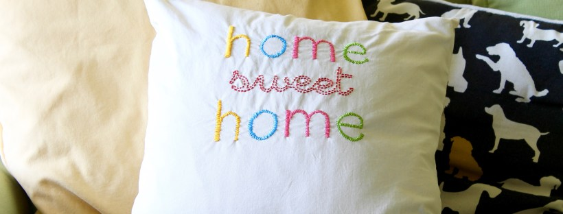 DIY embroidered throw pillow | Popcorn and Chocolate