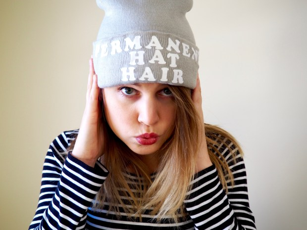DIY iron-on slogan beanie | Popcorn and Chocolate