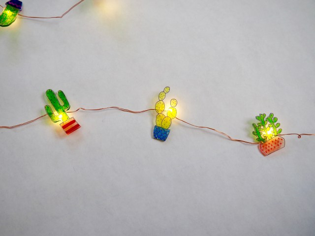 diy shrinky dinks cactus lights popcorn and chocolate