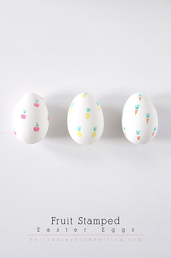 DIY Fruit Stamped Easter Eggs