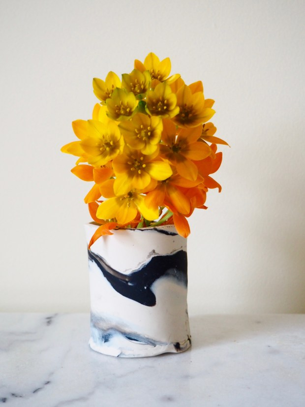DIY Marbled Clay Vase | Popcorn and Chocolate