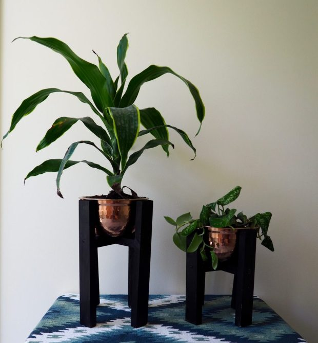 Copper Mid-CenturyCopper Mid-Century Modern Planters DIY | Popcorn and Chocolate Modern Planters