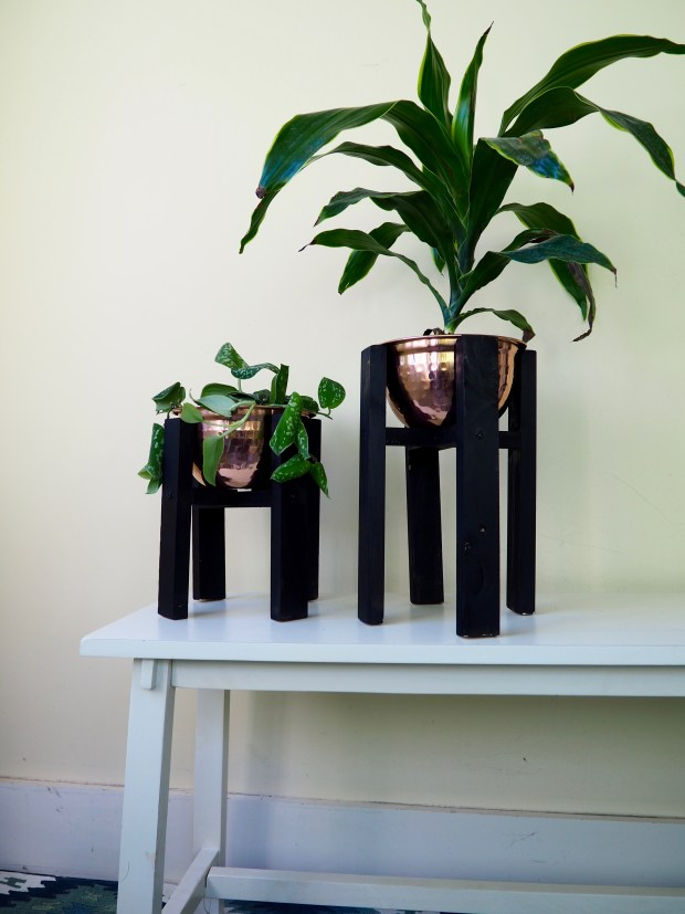 Copper Mid-Century Modern Planters DIY | Popcorn and Chocolate