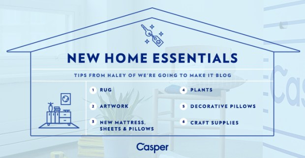 6 essentials for your new home | We're going to make it