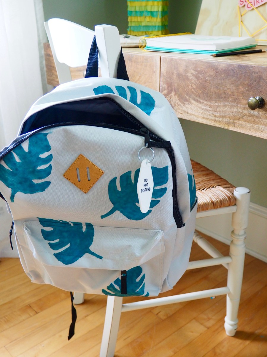 DIY Monstera Leaf Backpack | We're Going to Make it