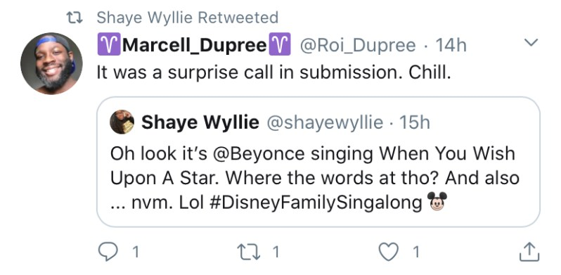 beyonce late addition to disney singalong